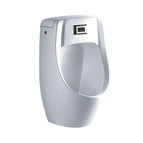 Lux-aqua Design Wand Urinal mit intergrierte Sensor Schalter und Nano-Beschichtung PA6014-N, Weiß, 330x275x550mm