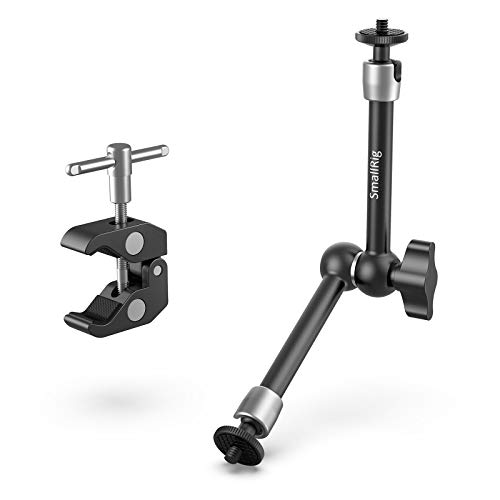 """SmallRig Clamp w/ 1/4"""" and 3/8"""" Thread and 9.5 Inches Adjustable Friction Power Articulating Magic Arm with 1/4"""" Thread Screw for LCD Monitor/LED Lights - KBUM2732"""