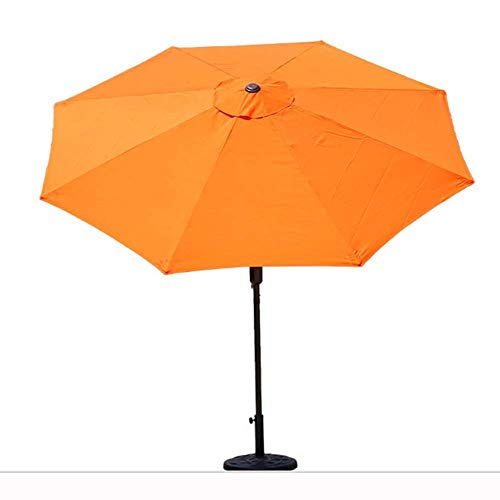 ZXYY 2.7M Iron 8 slats Outdoor patio Garden Umbrella Manual umbrella Umbrella UV umbrella (Color: orange)