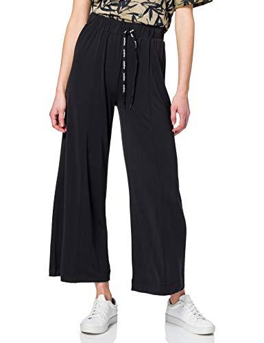 Desigual Fluid Pant Black Pantalones Informales, Negro, M para Mujer