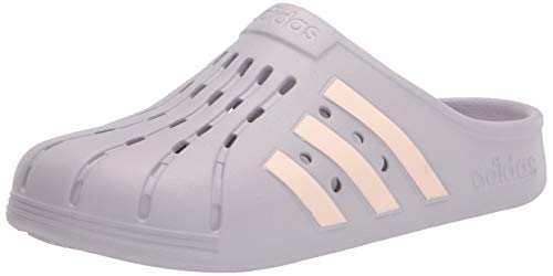 adidas Unisex Adilette Clog Slide Sandal, Glory Grey/Pink Tint/Glory Grey, 5 US Men