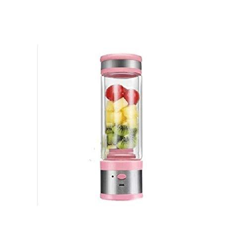 ZNBJJWCP Máquina de jugo conveniente exprimidor de frutas que lleva la máquina recargable de suplemento de alimentos para el hogar de vidrio eléctrico (Color: B)