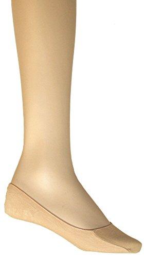 100-53 SOGNO D'ORO 12-pak dames voetjes ballerina sneaker sokken 1size Uni maat schoenmaat 34 35 36 37 38 39 kleur beige