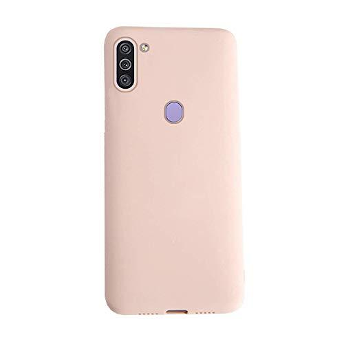 XunEda Ultra Ligero Funda Suave Caso Silicona Liquida Carcasa Protectora Case Cover Compatible para Samsung Galaxy A11,Galaxy M11 Funda (Rosa Claro)