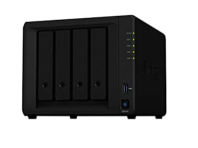 Synology DiskStation DS418 4-Bay NAS Enclosure, Quad-Core 1.4GHz, 2GB, No HDD