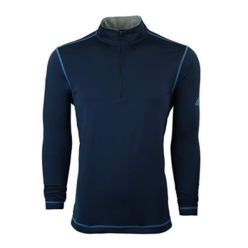 adidas Veste pour Homme Protection UV 1/4 1/4 Fermeture Éclair, Homme, TM4345S9, Bleu Marine, x-Large