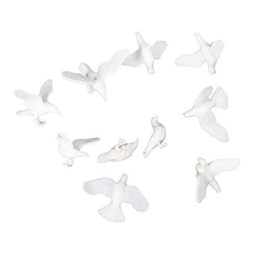 Baoblaze 10pcs Miniatura Pájaros de Molde Pigeon para Decoración Hogar - S