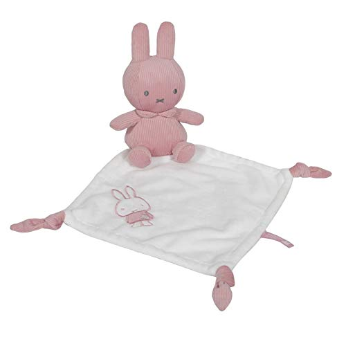 Tiamo NIJN614 Miffy Hase Cord Schmusetuch Kuscheltuch rosa weiß