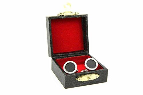 Miniblings Taste Schreibmaschine Manschettenknöpfe - Handmade I Manschettenknopf Cufflinks Hemdknöpfe I schöne Holzbox inklusive - Taste Schreibmaschine