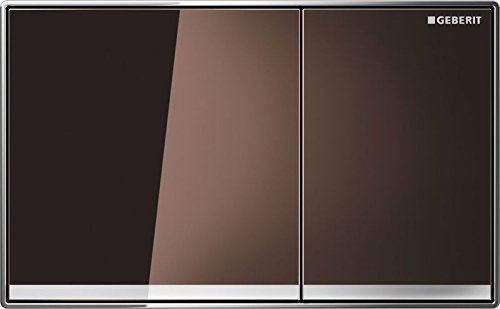 Geberit 115.640.SQ.1 Sigma 60 Betätigungsplatte, Glas umbra