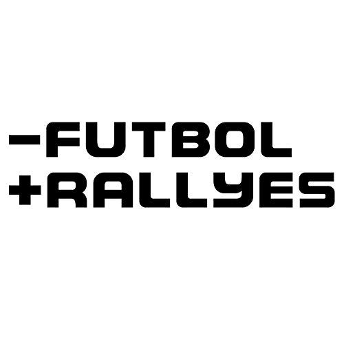 Custom Vinyl Pegatina - Futbol + Rallyes (Negro)