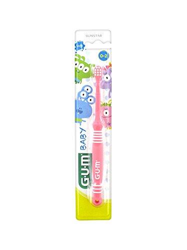 GUM Baby Zahnbürste, 0 bis 2 Jahre, Rosa