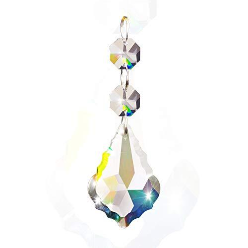 Fushing Cuentas de cristal estilo hoja de arce, colgante de gota, candelabro,...