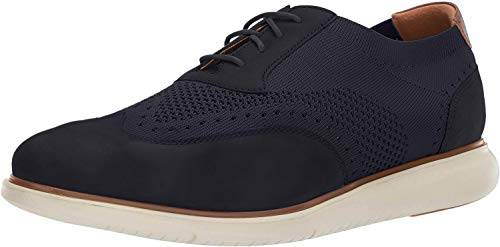 Florsheim Foster Wing Tip Knit Oxford with Sneaker Sole Indigo 10 M (D)