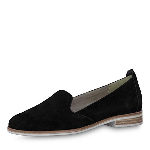 Tamaris Damen Slipper, Frauen Mokassins,Touch It-Fußbett,Woman,Halbschuhe,College,Schuhe,Loafer,Businessschuhe,Schlupfschuhe,Black,39 EU / 5.5 UK