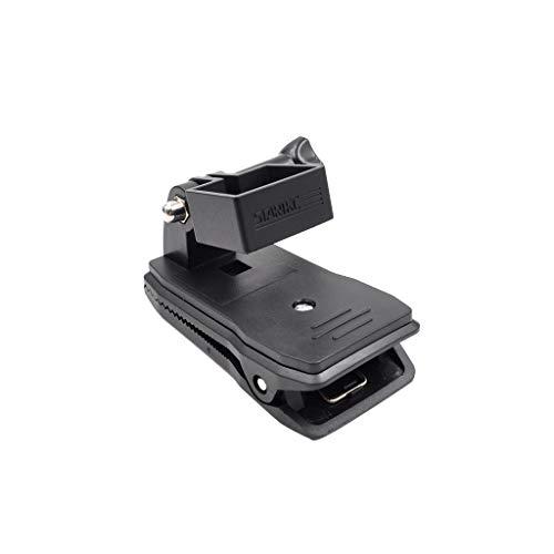 jfhrfged Expansión 1/4 de Pulgada Soporte Adaptador + Clip para estabilizador cardán palmar dji Osmo Pocket Negro