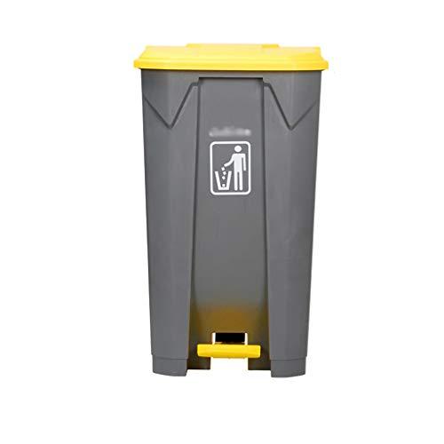 Outdoor Garbage Can, verdikking Plastic Pedal Type recycling bakken Vuilnisbakken Geschikt for huishoudelijk, gemeentelijk Place (Size : 83 * 48 * 40CM)