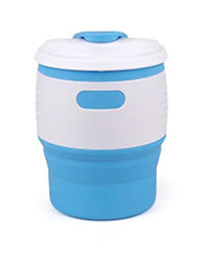 350 ML Faltbare Kaffee Tassen Wärmedämmung Silikon Reise Tee Tasse Dichtung Leck Beweis Espresso Tassen Outdoor Tragbare Tazzine Caffe,Blue