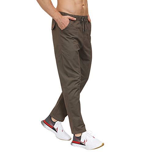 lexiart Mens Fashion Athletic Joggers Sports Pants Cotton Cargo Pants Sweatpants Trousers Long Pants Darkgray