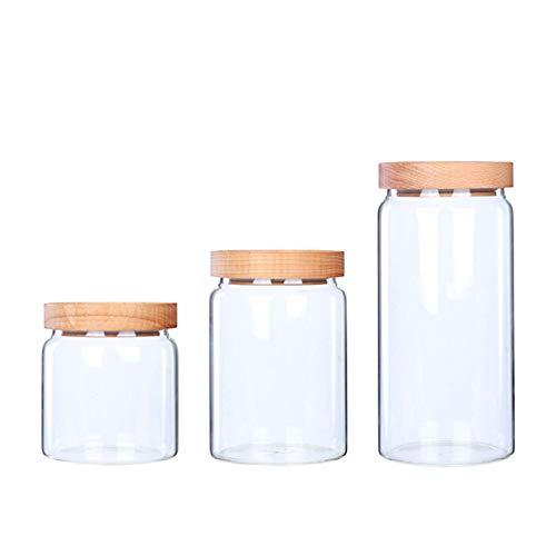 WANGLX ST Vorratsdosen Vakuum 3er Set für Lebensmittel, Luftdicht - BPA frei, Aufbewahrungsdose Vorratsbehälter, um Frisch zu Halten, Transparent