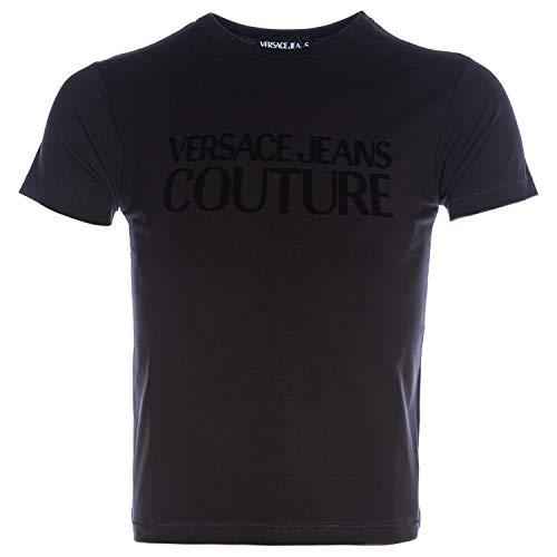 VERSACE JEANS COUTURE Tonal VJC Logo T Shirt in Black