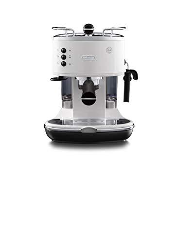 De\'Longhi Icona Eco 311.W Macchina da Caffè Espresso Manuale e Cappuccino, Caffè in Polvere o in Cialde E.S.E., 1100 W, Bianco