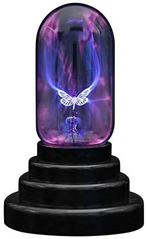 Rhelf Bola de plasma mariposa Bola mágica táctil sensible de 3 pulgadas...