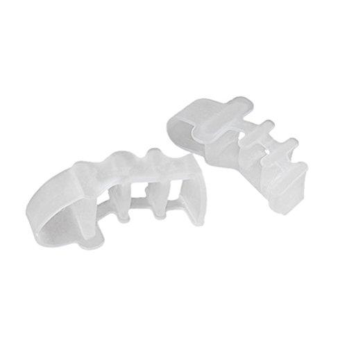 HEALLILY 2pcs gel séparateur d'orteils protecteur de correcteur d'oignons redresseur entretoises flexibles écarteur caoutchouc étirement pour soulagement de la douleur de l'oignon (blanc)