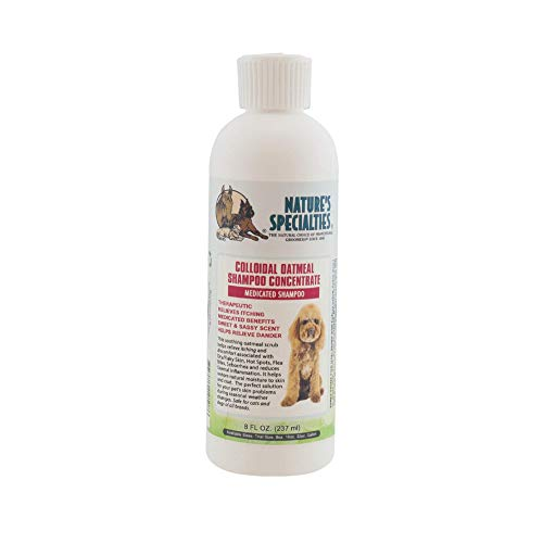 Nature's Specialties Colloidal Oatmeal Shampoo for Dogs Cats, Non-Toxic Biodegradeable, 8oz