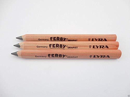 Lyra Ferby 3 x Bleistift Jumbo-Größe dreikantform, dick, zum Schreiben lernen