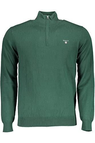 GANT Cotton Wool Zip Sweatshirt für Herren, 83103, Grün, 83103 XX-Large