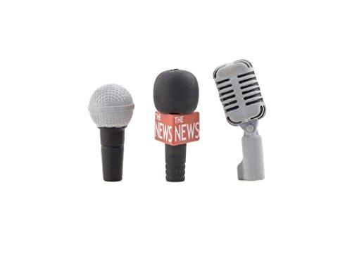 Kikkerland Microphone Erasers, Set of 3 (ER47)