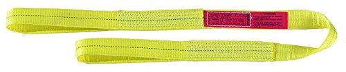 "Liftall EE1801DFX6 Polyester Web Eye and Eye Sling, Flat Eye, 1-ply, 1"" x 6'"