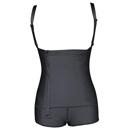 GOWINEU Damen Latex Taille Trainer Body Slim Full Zipper Shapewear Bauch Control Korsett Body Shaper