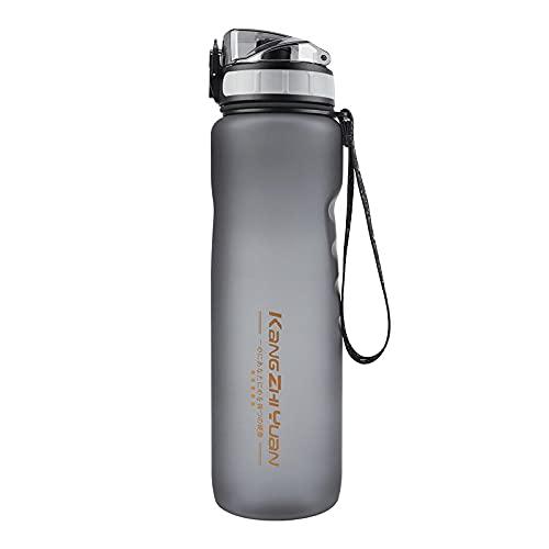 ZHAO Botellas De Agua Potable, Botellas De Agua con Goteras - 1.000 Ml - Bisfenol A Gratis - Botellas De Agua, Al Aire Libre, Fitness, Viajes, Estudiantes