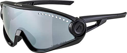 Alpina Unisex– Erwachsene 5W1NG cm+ Sportbrille, Black, one Size