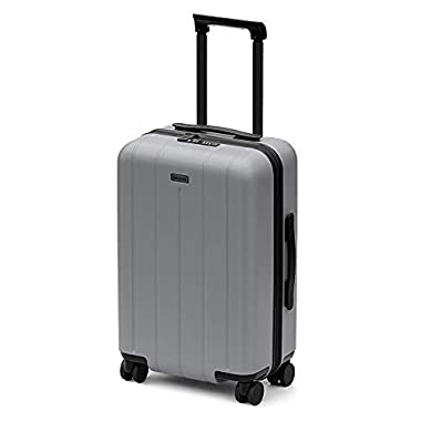 CHESTER Minima Carry-On Luggage / 22 x19 x14  Lightweight Polycarbonate Hardshell/Spinner Suitcase/TSA Approved Cabin Size (Fog (Aluminum Grey), Carry-On Luggage)