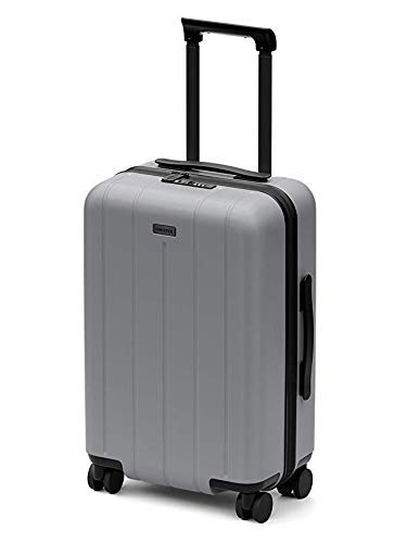 CHESTER Minima Carry-On Luggage / 22'x19'x14' Lightweight Polycarbonate Hardshell/Spinner Suitcase/TSA Approved Cabin Size (Fog (Aluminum Grey), Carry-On Luggage)