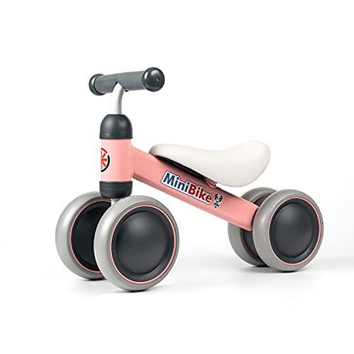 YGJT Bicicleta sin Pedales para Bebe de 1 Año (10-18 Meses), Correpasillos Juguetes Bebes para ejercita Las Habilidades de coordinación de su bebé, Excelente Regalo para Bebe de 1 Año (Rosado)