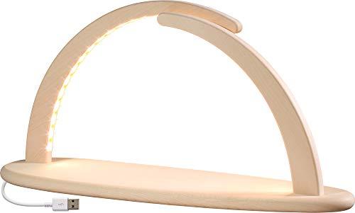 Bogen mit LED und USB-Stecker, ca. 41 cm, Lichterbogen, Leuchterbogen, Schwibbogen, 15370