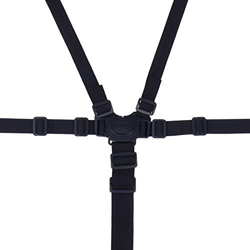 Xinzistar 5 Punkt Hochstuhl Gurt, Sicherheitsgurt Baby Verstellbarer Universal Tripp Trapp Gurt Kinderschutz für Buggy Kindersitz Kinderwagen (Schwarz)