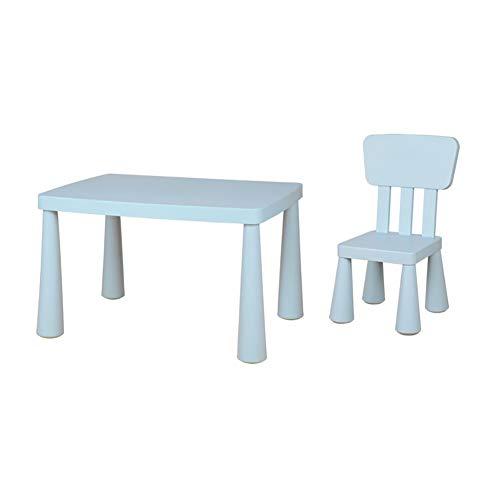 Kinder-Studie Tisch und Stuhl Set, Kindergarten Tisch, Stuhl und Hocker, Studie Play/Kinder Table/Activity Table,Blau