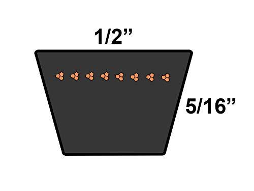 Rubber 44.57 Length D/&D PowerDrive 17443 V Belt