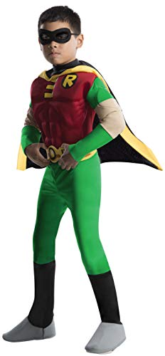 Rubies DC Comics Teen Titans Deluxe Muscle Chest Robin Costume, Toddler