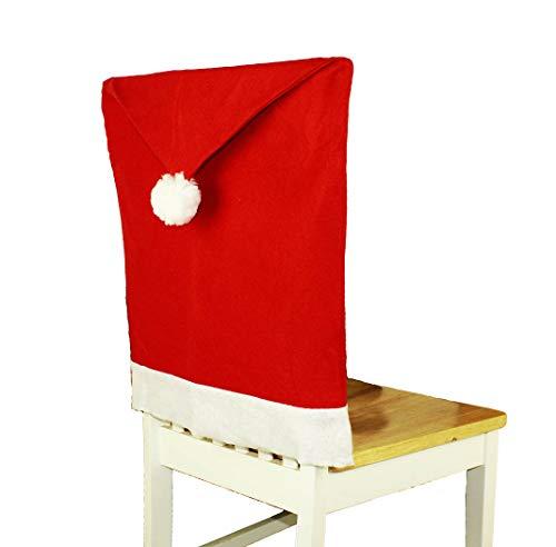 HAAC 2er Set Stuhlhusse Mütze Motiv Weihnachtsmütze Filz Farbe rot Weihnacht Weihnachten