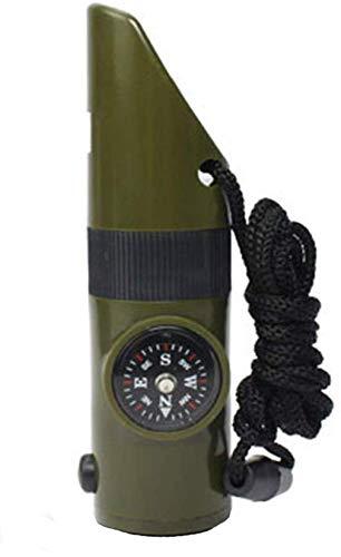 Acme Pfeifen Sie Notüberlebens-Rettungspfeife 7 in 1 praktischem Multifunktionswerkzeug für das kampierende Wandern im Freiengrün