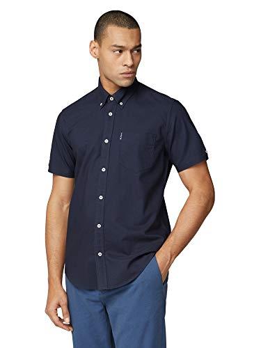 Ben Sherman SS Signature Oxford Shirt Camisa, Azul (Dark Navy 25), Medium para Hombre