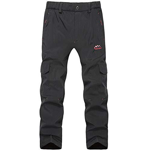 GITVIENAR Pantalon fonctionnel softshell chaud pour homme avec polaire imperméable et coupe-vent Pantalon de randonnée Pantalon de trekking Taille 2XL Couleur vert