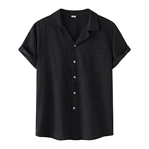 camicia donna manica corta Camicia da Uomo con Colletto risvoltato a Maniche Corte con Stampa a Righe Casual da Uomo Moda Uomo e Donna Manica Corta con Scollo a V Stampa Camicie da Spiaggia Tops