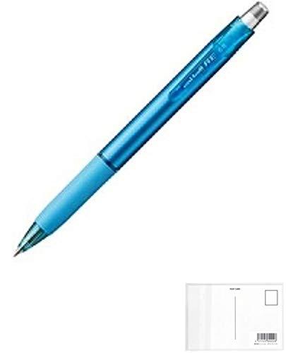 三菱鉛筆 消せるゲルインクボールペン uni-ball R:E 0.5mm スカイブルー 2個セット + 画材屋ドットコム ポストカードA